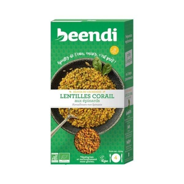 Lentilles Corail Aux Épinards Bio