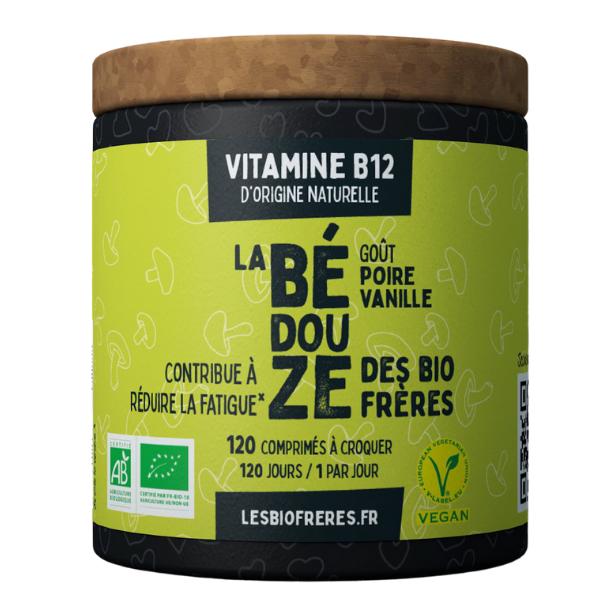 img-bio-freres-vitamine-b12-bedouze-poire-vanille-bio-120vegan-vitamine-dorigine-naturelle-packing-eco-concu-sans-plastique-et-reutilisable