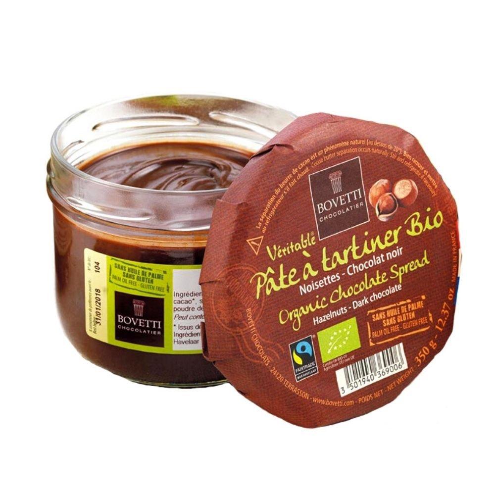 Pâte à Tartiner Chocolat Noir et Noisettes Bio