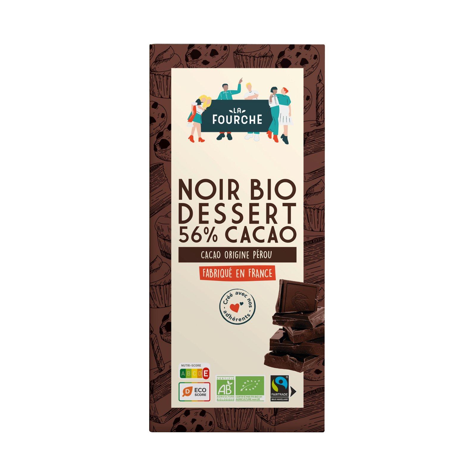 Chocolat Noir Dessert Pâtissier 56% bio et équitable