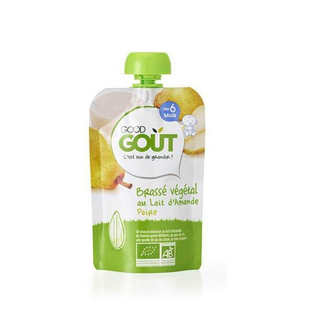 img-good-gout-pack-gourde-x10-brasse-vegetal-amande-poire-des-6-mois-90g-bio