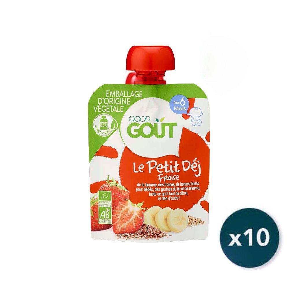 img-good-gout-pack-gourde-x10-petit-dej-fraise-des-6-mois-70g-bio