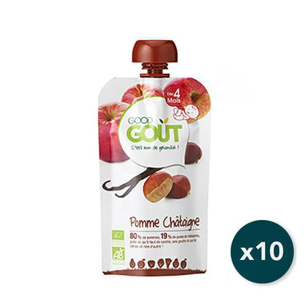 img-good-gout-pack-gourde-x10-pomme-chataigne-vanille-des-4-mois-120g-bio