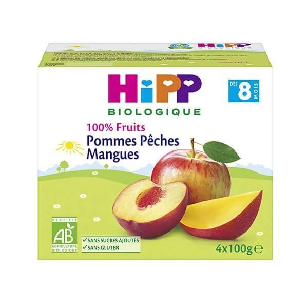 img-hipp-coupelles-pommes-peches-mangues-des-8-mois-4x100g-bio