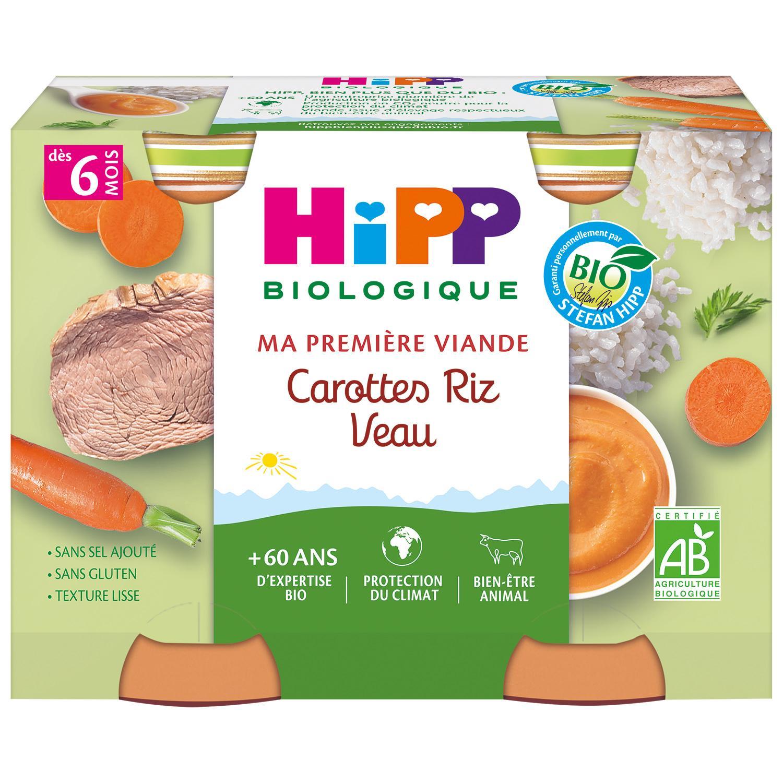 img-hipp-petits-pots-carottes-riz-veau-des-6-mois-2x190g-bio