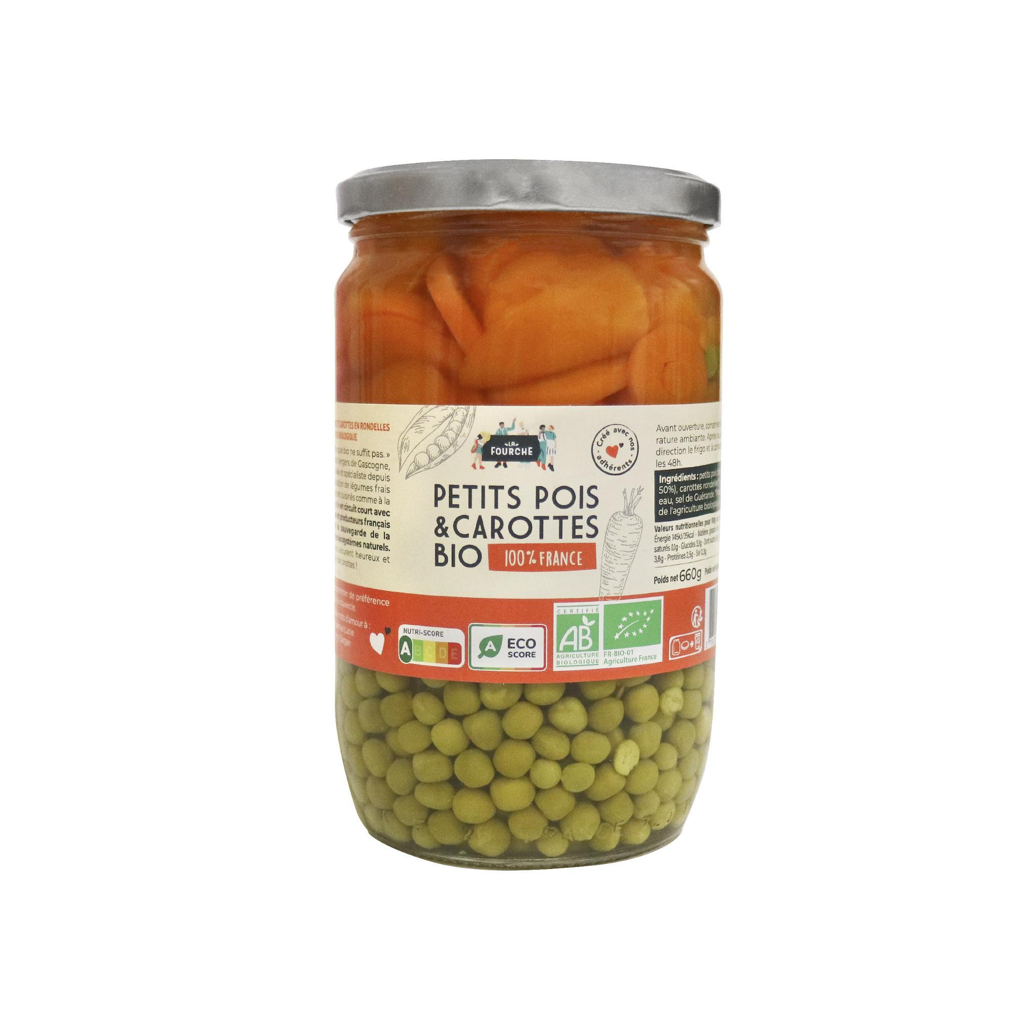 img-la-fourche-petits-pois-tres-fins-carottes-rondelles-france-bio-660g