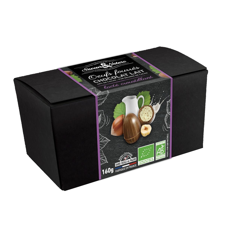 img-saveurs-et-nature-ballotin-petits-oeufs-chocolat-lait-fondant-croustillant-bio-160g