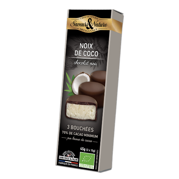 img-saveurs-et-nature-bouchees-a-la-noix-de-coco-enrobees-de-chocolat-noir-70-de-cacao-bio-45g