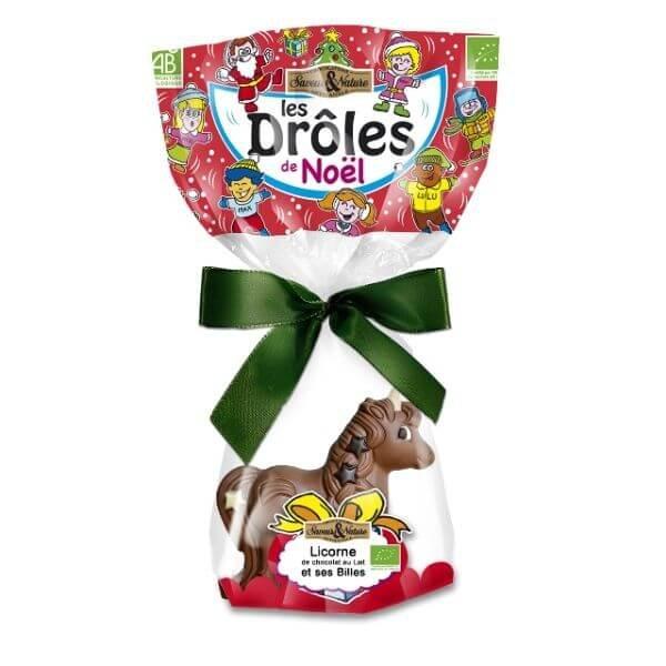 Licorne De Chocolat Au Lait Creux Et Crousty Aux 3 Chocolats Bio