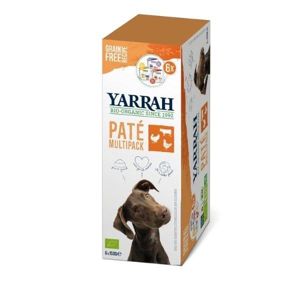 img-yarrah-multipack-patee-pour-chien-3-saveurs-bio-6x150g