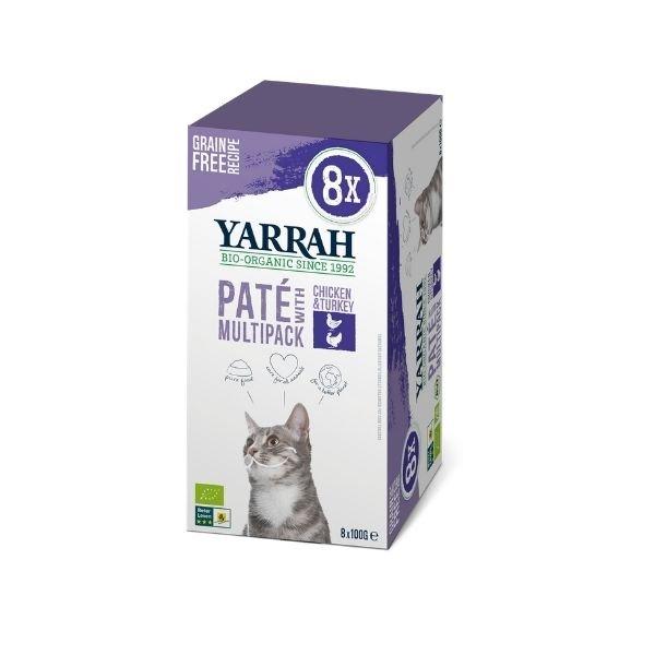 img-yarrah-patees-pour-chat-au-poulet-et-a-la-dinde-bio-8x100g