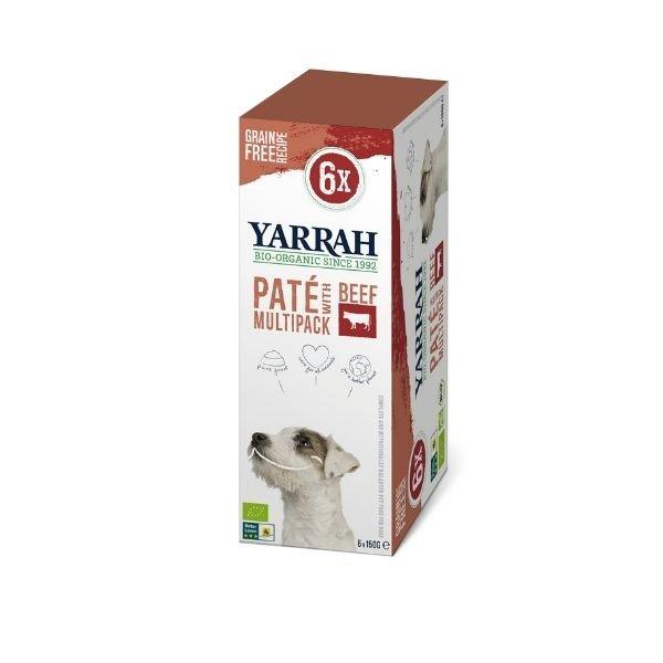 img-yarrah-patees-pour-chien-au-boeuf-bio-6x150g
