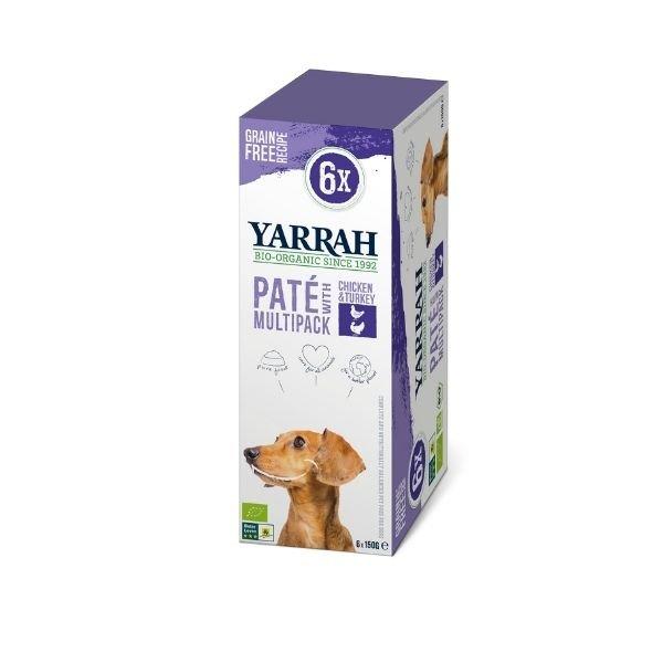 img-yarrah-patees-pour-chien-au-poulet-et-a-la-dinde-bio-6x150g